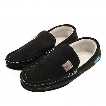 Manchester City F.C. Mens Moccasins 7/8 BLK