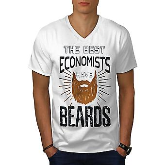 The Best Economist Men WhiteV-Neck T-Shirt | Wellcoda