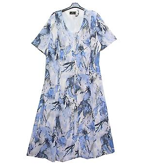 EUGEN KLEIN Dress 7232 White With Blue And Grey