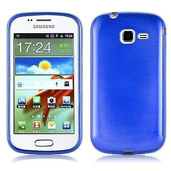 Cadorabo fallet för Samsung Galaxy TREND Case Cover-flexibel TPU silikonfodral Case Ultra Slim soft tillbaka täcker Case stötfångare