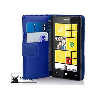 Cadorabo Caja para Nokia Lumia 520 Funda de la funda - Funda de teléfono de cuero sintético resbaladizo con función de soporte y bandeja de la tarjeta – Funda de la funda de la funda de la funda de la funda de la funda del libro plegable del libro plegable del libro plegable del libro del plegado