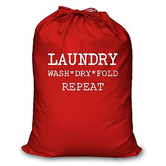 Red Laundry Wash Dry Fold Repeat