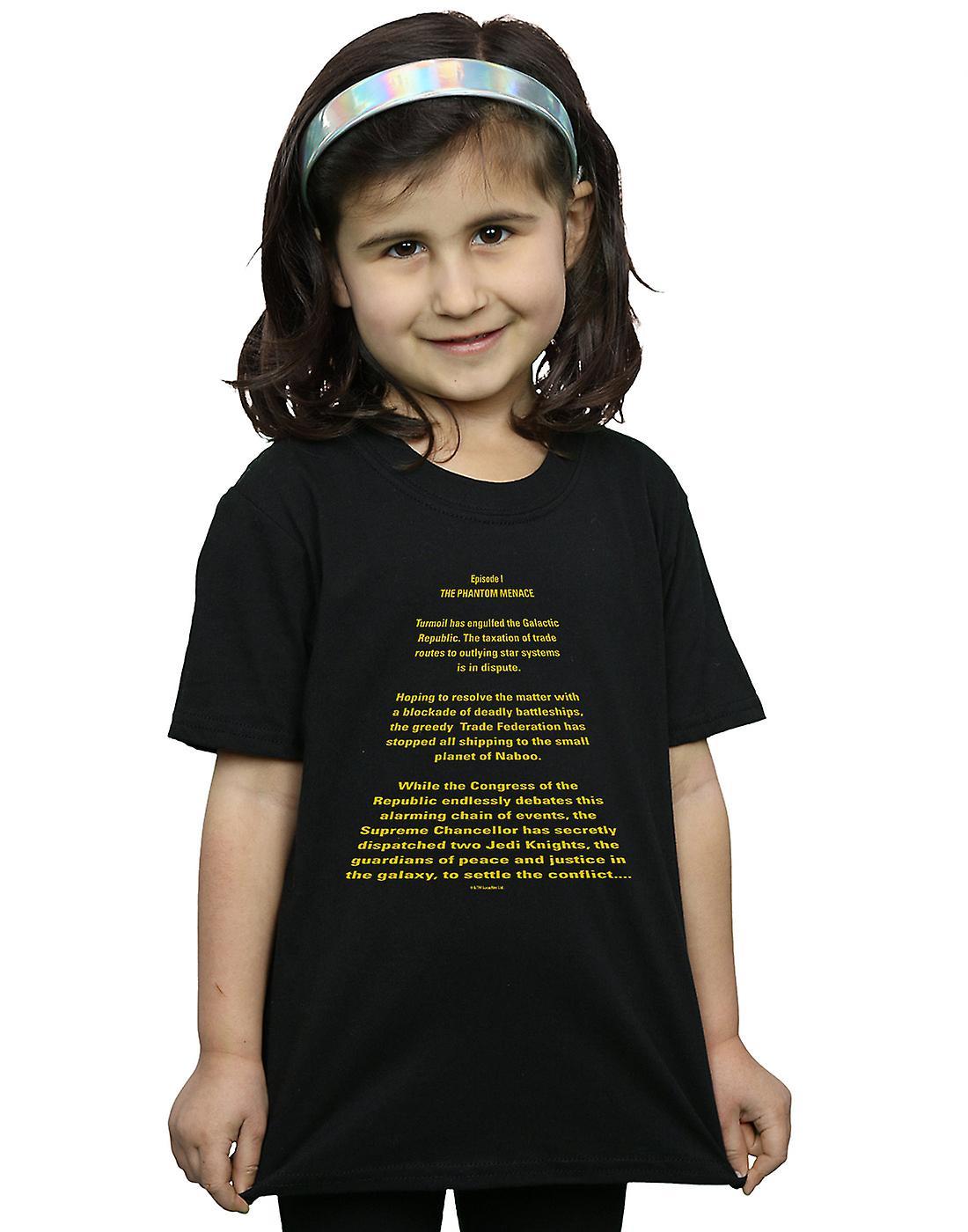 Star Wars Girls The Phantom Menace Opening Crawl T-Shirt