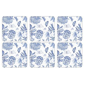 Pimpernel Botanic Blue Coasters, Set of 6