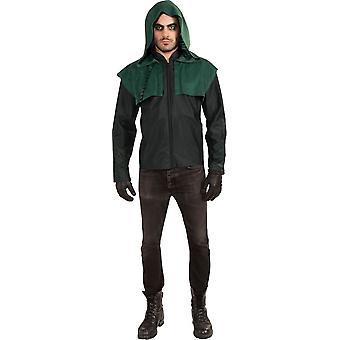 Groene pijl Deluxe kostuum voor volwassenen