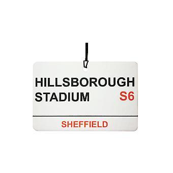 Sheffield Wednesday / Hillsborough Stadium Street Sign Car Air Freshener