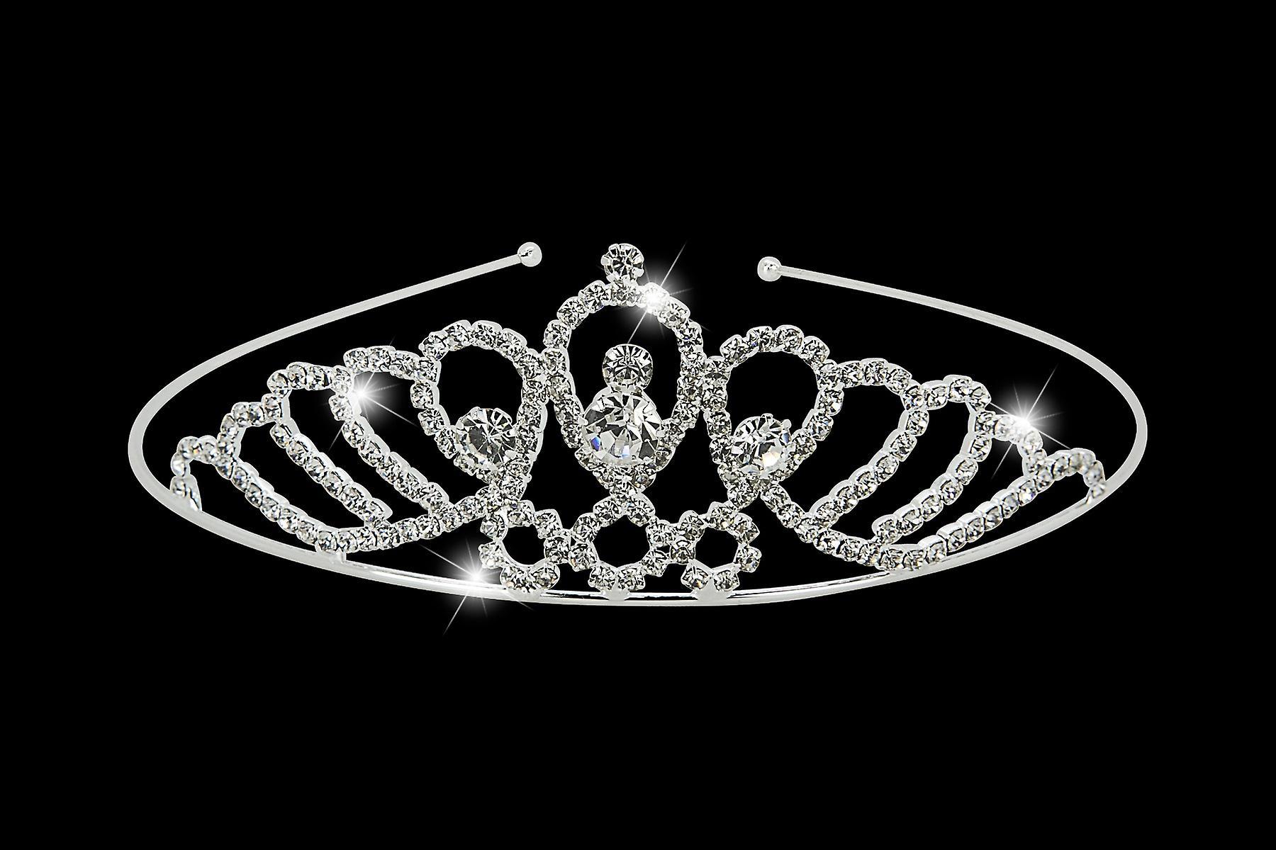 Silver Bridal Crystal Rhinestone Headband Tiara Wedding Crown Prom