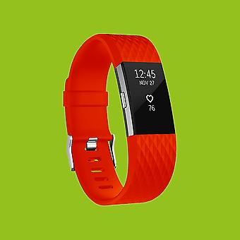 For Fitbit batch 2 plastic / silicone bracelet for women / size S red watch