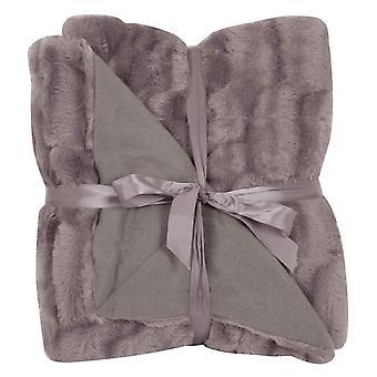 Solbacka manta piel aspecto 130x160cm manta gris