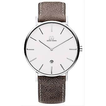 Deens design Tidlos Aero large Watch-taupe/zilver