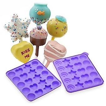 Cake Pops Shapes Instant Silicone Baking Pan Set