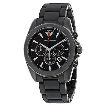 Emporio Armani Men's Ar6092 Sport Black Silicone Watch