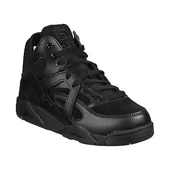 Fila women & s أحذية رياضية عالية الأعلى في الجلد الأسود