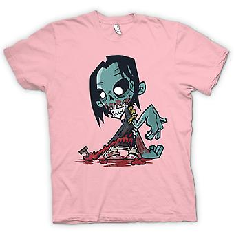 Womens T-Shirts-Cartoon Zombie Untoter Design