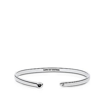 Tampa Bay Lightning Engraved Sterling Silver Black Onyx Cuff Bracelet