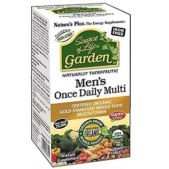 Nature es Plus Source of Life Garden Organic Mens Daily Tabs 30 (30745)