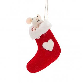 Sasse & Belle Christmas Mouse Decoration | Gifts From Handpicked