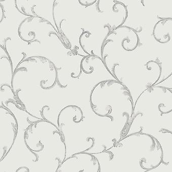 Sirpi Floral Leaf Pattern Wallpaper Metallic Glitter Heavy Weight 20594
