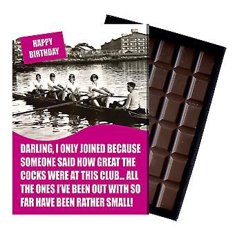 Wioślarstwo klub śmieszne prezenty urodzinowe dla kobiet wioślarzy Pudełkowane czekolada powitanie karta prezenty NDL102
