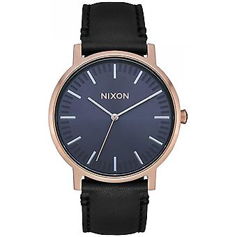 Nixon the porter watch for Japanese Quartz Analog Woman with Cowskin Bracelet A10583005