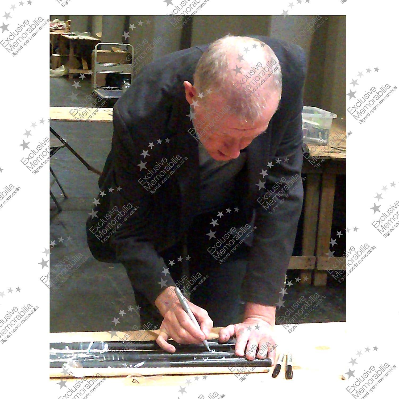 Steve Davis Signed Snooker Cue. Framed