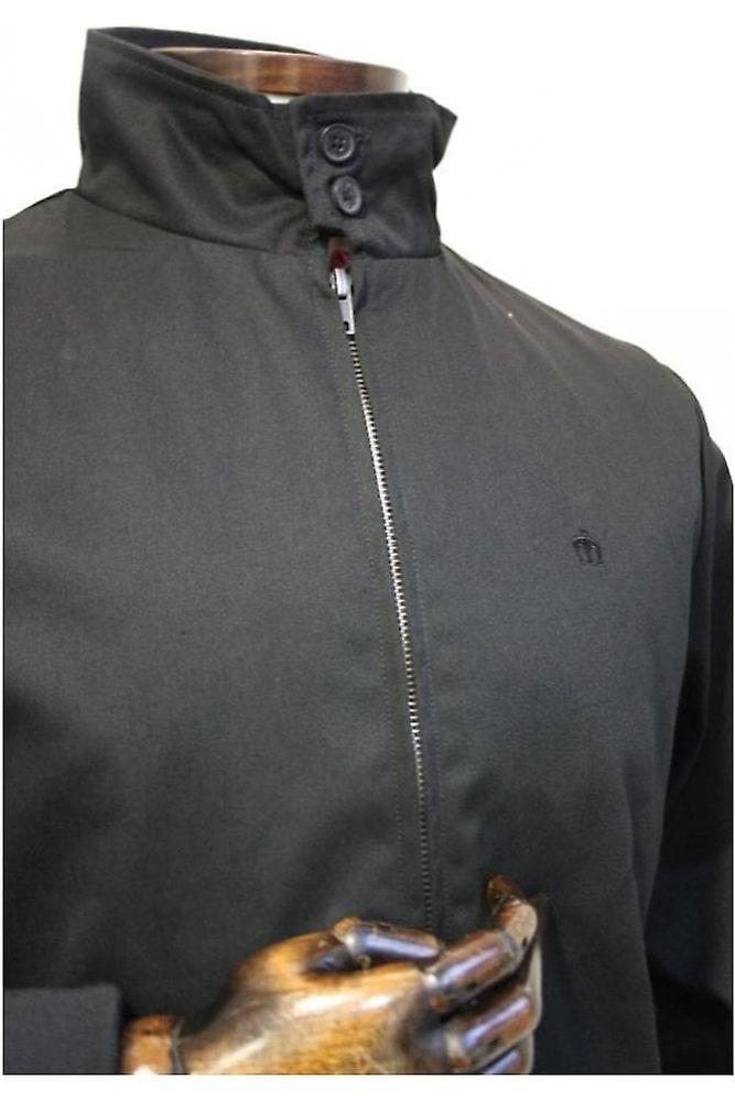 Merc London Harrington Black Cotton Jacket