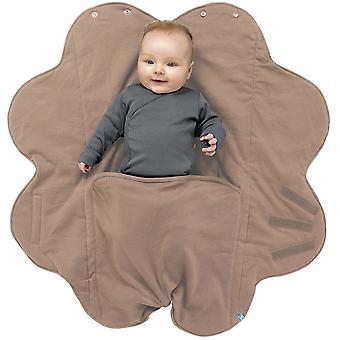 Wallaboo baby teppe Fleur, for vogn, Moses kurv, barneseng, bilsete, super soft 100% bomull, 0-10mths, taupe