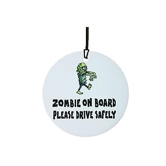 Zombie on Board Car Air Freshener