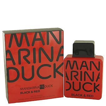 Mandarina eend zwart en rood eau de toilette spray door mandarina eend 538190 100 ml