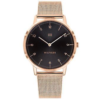 Tommy Hilfiger Cooper Rose Gold-Tone Mesh Mens Watch 1791586