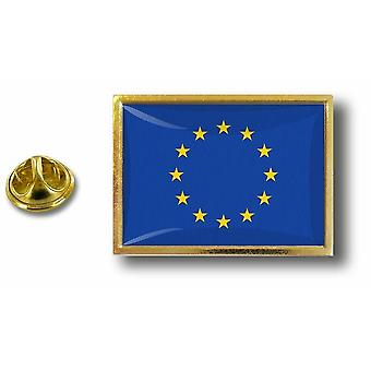 Pins Pin Badge Pin's Metal  Avec Pince Papillon Drapeau Europe Ue Cee