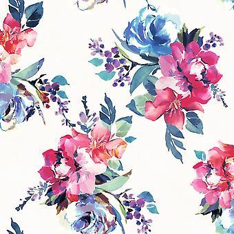 Amelie Floral Wallpaper Multi / Creme Accessorize 274607