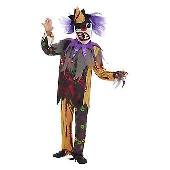 Pojat Halloween pelottava Clown Fancy Dress puku
