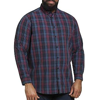 Duke D555 Hommes Enderby Big Tall Kingsize Lumberjack Casual Check Shirt - Marine