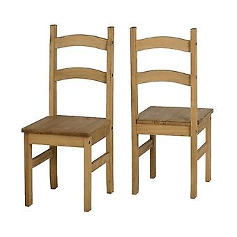 Budget Mexican Chair Distressed Waxed Pine