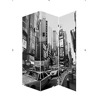 "1"" x 48"" x 72"" Multi Color Wood Canvas New York City  Screen"