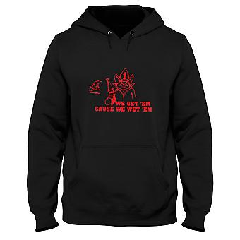 Black man hoodie fun1561 get em wet firefighter