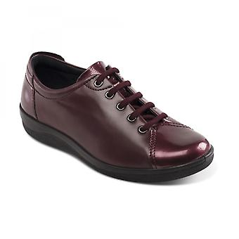 Padders Galaxy 2 Ladies Leather Wide (e Fit) Shoes Wine