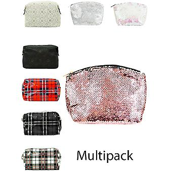 Womens Cosmetic Bag Travel Toiletry Case Make Up Organiser Multi Pack New