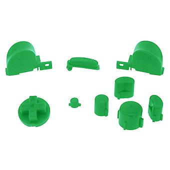 Clear green replacement button set mod kit for nintendo gamecube controllers | zedlabz
