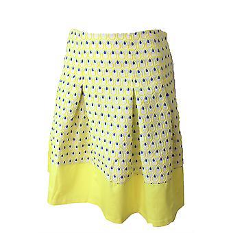 Darling Women's Flared Yellow Abbie Skirt L UK 14