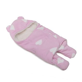 Cangaroo Cuddly Baby Blanket Cosy made of fleece, beanie and feet size 50 x 70 cm