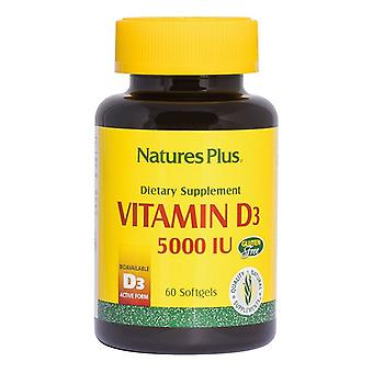 Nature's Plus Vitamin D3 5000iu Softgels 60 (1047)