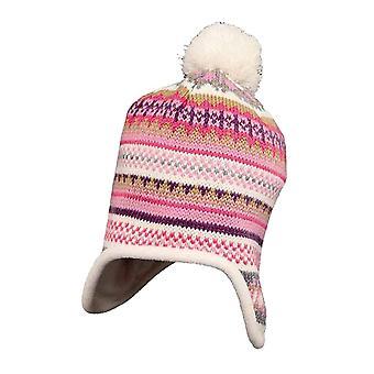 Crianças meninos infantil de malha Peru inverno lã forrado chapéu de inverno