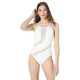 La Blanca Women's High-Neck One Piece Swimsuit, White // Triple Threat, 4