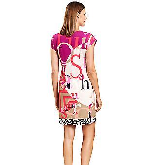 Féraud 3205037-16571 Women's Veelkleurige Letters Beach Dress
