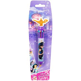 Disney Aladdin Jasmine Bläckpenna 10 Olika Färger 10i1