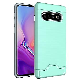 For Samsung Galaxy S10 Case Mint Green Slim TPU+PC Brushed Shockproof Cover