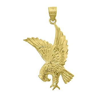 14k Yellow Gold Mens Dc Eagle Bird Height 36.5mm Pendant Necklace Charm Jewelry Gifts for Men