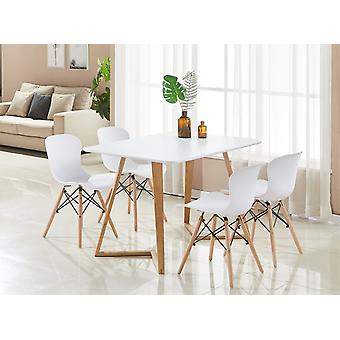 Alessia Dallas Dining Table Set With 4 Chairs